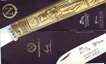 Achat : Le napoleon 1815ex.numérotés  collector  (Couteaux anciens) - Couteaux anciens neuf et d'occasion - Achat et vente