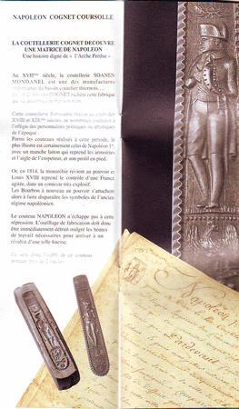 Achat : Le napoleon 1815ex.numã©rotã©s collector  (Couteaux anciens) - Couteaux anciens neuf et d'occasion - Achat et vente