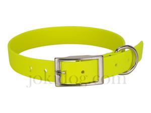Collier biothane beta 25 x 60 cm jaune - jokidog
