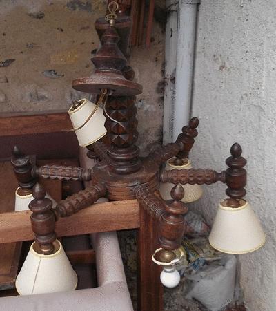 Achat : Grand lustre en bois  (Autres meubles) - Autres meubles neuf et d'occasion - Achat et vente