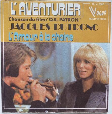 Achat : Jacques dutronc l'aventurier bo du film ok patron  (Vinyles (musique)) - Vinyles (musique) neuf et d'occasion - Achat et vente