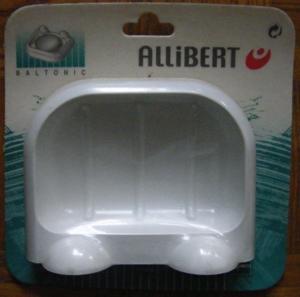 Porte savon plastique blanc modèle allibert neuf