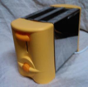 Grille-pain toaster jaune chrome