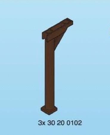 Achat : Grand poteau bois support toit  playmobil  (Playmobil & play-big) - Playmobil & play-big neuf et d'occasion - Achat et vente