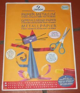 Loisir créatifs-scrapbook.-papier métallisé canson