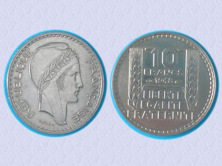 Achat : Piece tbe - 10 f - 1948 - naissance 4eme republiqu  (Pièces) - Pièces neuf et d'occasion - Achat et vente