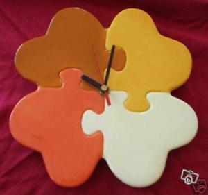 Pendule horloge puzzle idee cadeau
