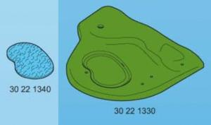 Playmobil base etang de jardin + étang