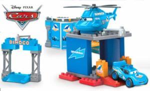 Le podium bleu cars dinoco lego mega bloks
