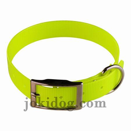 Achat : Collier biothane 25 mm x 60 cm jaune  (Colliers pour chiens) - Colliers pour chiens neuf et d'occasion - Achat et vente
