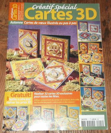 """Achat : Magazine """"créatif spécial : cartes 3d""""  (Loisirs, nature (livres)) - Loisirs, nature (livres) neuf et d'occasion - Achat et vente"""