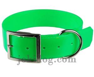 Collier biothane 38 x 70 cm vert