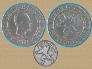 Pièce belge 20 cts - 1860 léopold i roi des belges