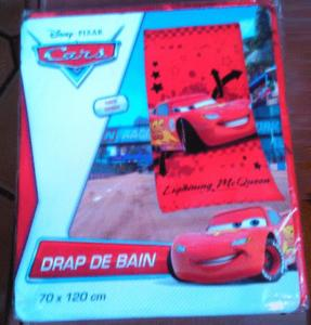 Drap de bain cars lighting mc queen pixar disney