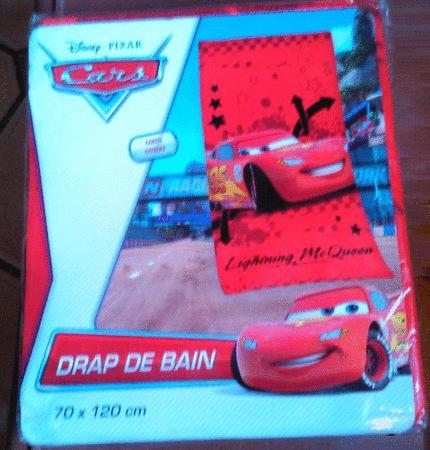 Achat : Drap de bain cars lighting mc queen pixar disney  (Draps de bain) - Draps de bain neuf et d'occasion - Achat et vente