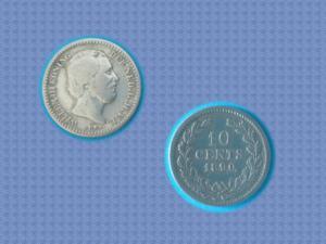 Pièce nederland - 10 cents - 1890 - willem iii