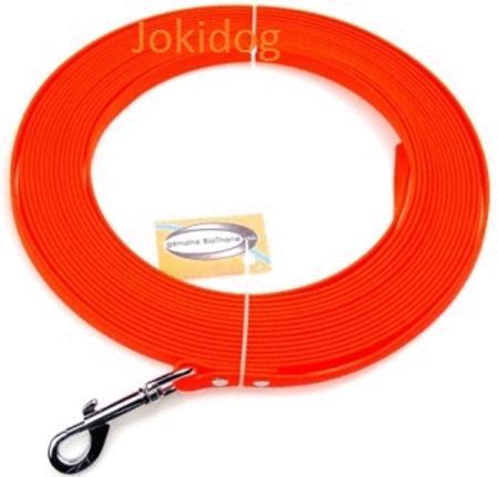 Achat : Longe biothane plate 13 mm x 15 m orange  (Laisse pour chiens) - Laisse pour chiens neuf et d'occasion - Achat et vente