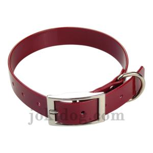 Collier biothane 25 mm x 60 cm bordeaux