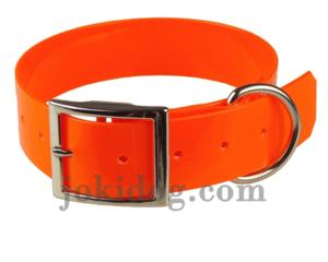 Collier biothane 38 mm x 70 cm orange