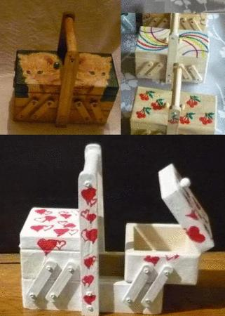 Achat : Boite a bijoux forme travailleuse (artisanat)  (Boîtes - coffrets) - Boîtes - coffrets neuf et d'occasion - Achat et vente