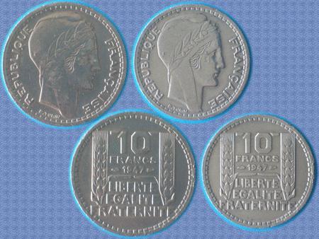 Achat : Piece 10 f - 1947 - gouv. provisoire - grosse tete  (Pièces) - Pièces neuf et d'occasion - Achat et vente