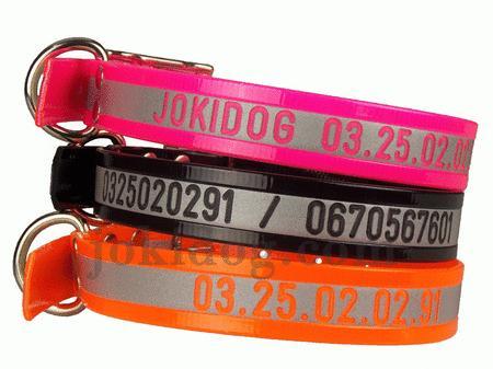 Achat : Collier gravé réfléchissant 25 mm x 55 cm orange  (Colliers pour chiens) - Colliers pour chiens neuf et d'occasion - Achat et vente