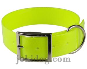 Collier biothane 38 mm x 60 cm jaune