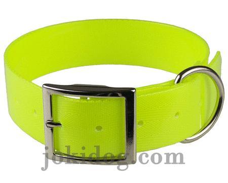 Achat : Collier biothane 38 mm x 60 cm jaune  (Colliers pour chiens) - Colliers pour chiens neuf et d'occasion - Achat et vente