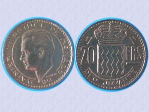 Belle piece - monaco - 20 f - 1951 - rainier iii