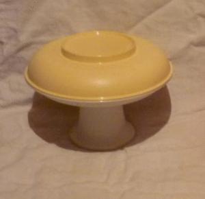 Tupperware petite coupe desserte 2 étages sur pied