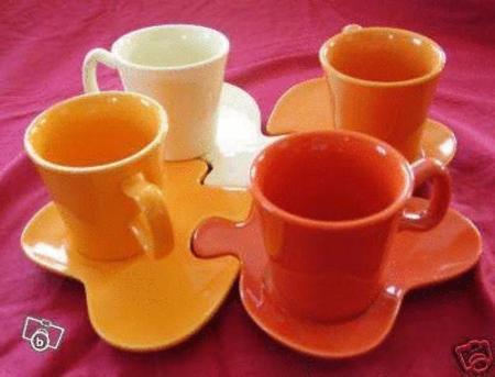 Achat : Service a cafe forme puzzle  (Tasses) - Tasses neuf et d'occasion - Achat et vente