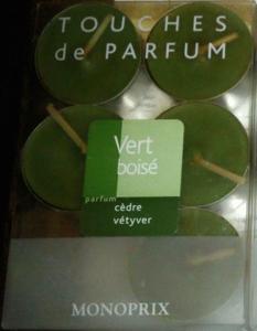 Bougies parfum cèdre