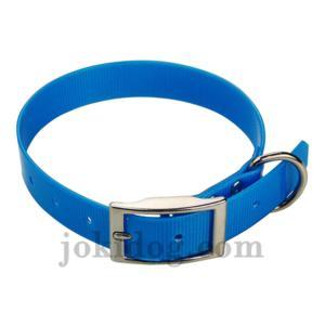 Collier biothane 25 mm x 60 cm bleu clair