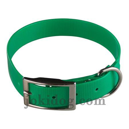 Achat : Collier biothane 25 mm x 60 cm vert foncé  (Colliers pour chiens) - Colliers pour chiens neuf et d'occasion - Achat et vente