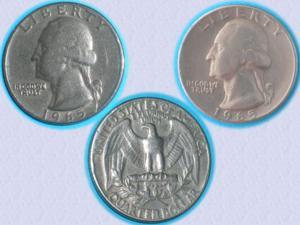 Très belle pièce quarter dollar de 1965 - washingt