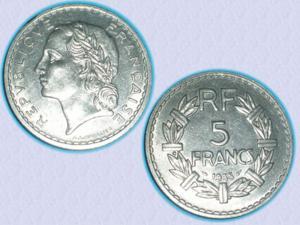 Magnifique piece de 5 f de 1935 - iiie république