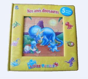 5 puzzles livre nos amis dinosaures