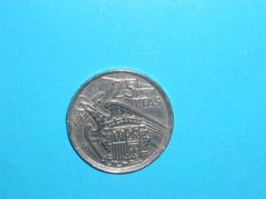 Piece - espagne - 1957 - 25 pesetas