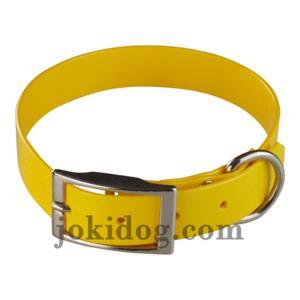 Collier biothane 25 mm x 55 cm jaune oeuf