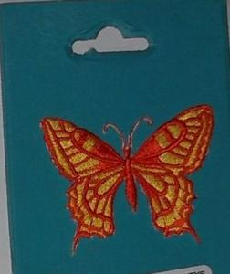 Sticker brodé thermocollant : papillon