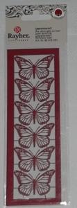 Papillons découpés au laser rouges