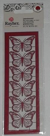 Achat : Papillons découpés au laser rouges  (Autres jeux créatifs) - Autres jeux créatifs neuf et d'occasion - Achat et vente