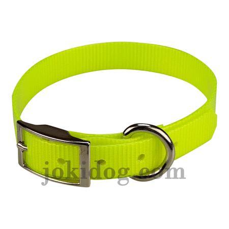Achat : Collier biothane 19 mm x 45 cm jaune  (Colliers pour chiens) - Colliers pour chiens neuf et d'occasion - Achat et vente