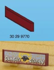Pancarte enseigne oambati station playmobil