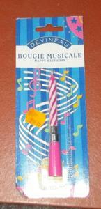 Bougies anniversaires musicales