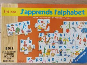 Jeu j'apprends l'alphabet