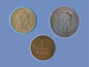 Piece de 1920 - 1 cts - daniel-dupuis - tbe
