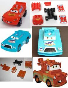 Vehicule modulable cars lego mega bloks disney