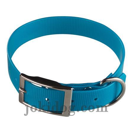 Achat : Collier biothane 25 mm x 55 cm turquoise  (Colliers pour chiens) - Colliers pour chiens neuf et d'occasion - Achat et vente