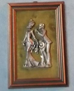 Cadre avec personnages en étain - saint-valentin 3
